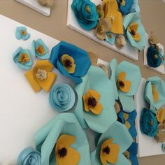 This is an adorable version of a paper flower wall! The 5 pieces as shown can be mixed and matched in a number different ways to suit your style or needs. This