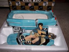 Elvis Presley car cookie jar
