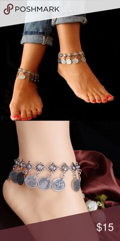 Gypsy Coin Ankle Bracelet(NWT) Brand new in package, price firm unless bundled. Tibetan silver. Could also be worn as a regular bracelet Jewelry Bracelets