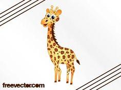 Giraffe Cartoon Free Vector Silhouette Clip Art, Animal Silhouette, Types Of Giraffes, Mythical Creatures, Sea Creatures, Giraffe Quotes, Japanese Poster Design, Deco Mesh Wreaths, Zoo Animals