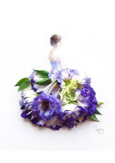 Flores y vestidos