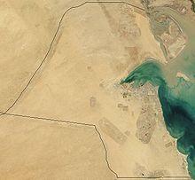 Satellite image of Kuwait