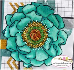 stampin up Blended Bloom, card by Sandi @ www.stampingwithsandi.com