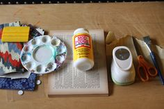 Book Page, Washi Paper Recycled Coffee Table   Trashy Crafter Recycled Craft Tutorial