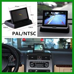 """Auto HD 4.3"""" Foldable Car Monitor Color TFT LCD LED Night Vision CCD Rear View Camera Automatically Switch Reversing and Video"""
