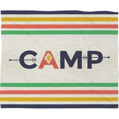 Dot & Bo Sleepaway Camp Throw Blanket ($70) ❤ liked on Polyvore featuring home, bed & bath, bedding, blankets, lakers blanket ve lakers bedding