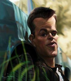 Matt Damon by creaturedesign.deviantart.com
