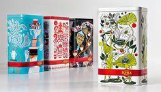 Juhla Mokka tins illustrated by Pietari Posti