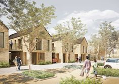 Stonegrove and Spur Road estate redevelopment, Barnet by Maccreanor Lavington Co Housing, Social Housing, Habitat Groupé, New Urbanism, Urban Village, Affordable Housing, Urban Planning, Residential Architecture, Architecture Details