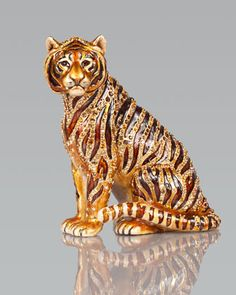Tiger Figurine by Jay Strongwater at Neiman Marcus.