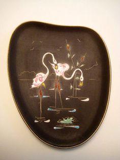 50er Jahre Wandbild Wandplatte Flamingos Wandteller 50is Wallplate Rockabilly   eBay