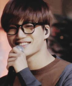Exo Kai wearing glasses during unfair