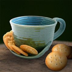 Soup and Crackers Stoneware Pottery Mug