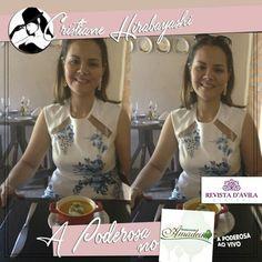 Agora a Poderosa Cristine Hirabayashi está aproveitando um delicioso almoço no Restaurante Amadeu!