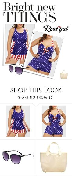 """""""29.Us Flag  American Swimsuit"""" by belma-bella ❤ liked on Polyvore featuring Louis Vuitton"""