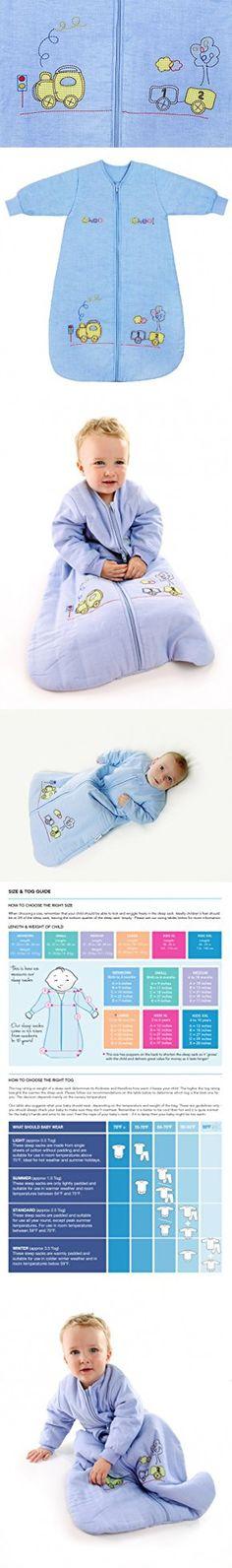 Winter Baby Sleep Sack Long Sleeves 2.5 Tog Choo Choo 6-18 months MEDIUM