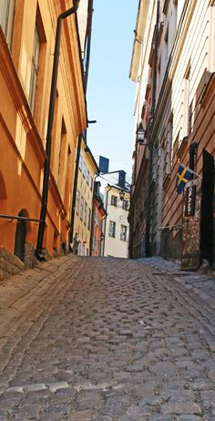 Stockholm, Sweden.  Gamla stan (The Old Town), until 1980 officially Staden mellan broarna (The Town between the Bridges), is the old town of Stockholm, Sweden.