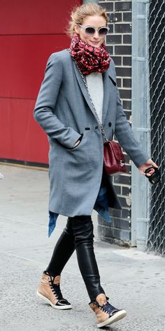 7 Ways to Wear High-Top Sneakers Like Olivia Palermo, Blake Lively, and More - Olivia Palermo  - from InStyle.com