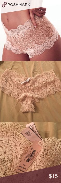 Vs lace panties Purchased from a boutique on posh and these are two large. Willing to trade. ISO of mediums. Trade value higher than selling price Victoria's Secret Intimates & Sleepwear Panties