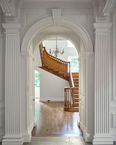 """southernhi-life: """"A Classical House Ben Pentreath Architects """" Beautiful Interior Design, Foyer Decorating, House Design, Staircase Design, Hallway Designs, Interior Architecture, English Interior, Wood Stairs, Wooden Staircases"""