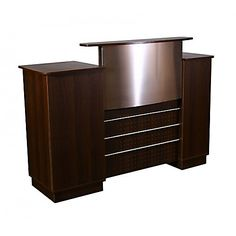 $690 Mandy Reception Desk ,  https://www.regalnailstore.com/shop/mandy-reception-desk/ #furniture #spasalon #spafurniture #nailtable #salonfurniture #nailsalon