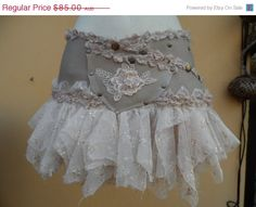 20% off bohemian leather and lace ruffle belt with by wildskin