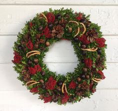 Boxwood nuts berry wreath Christmas wreath by NaturDesign on Etsy $59.00