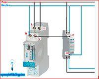Esquemas eléctricos: Contactor y Reloj horario