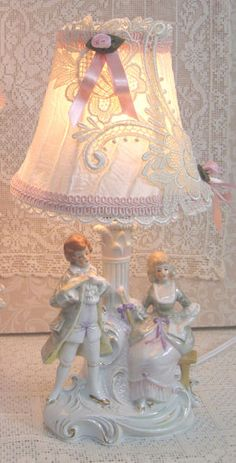 French Couple Lamps
