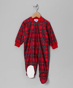 Take a look at this Red Plaid Footie - Infant by Snug As a Bug  Pajamas    Toys on today! e588e66ec