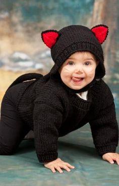 Baby Black Cat Knitting Pattern