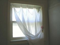 Homemade gauze curtains