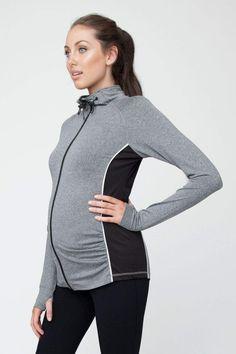Umstands-Trainingsjacke Yoga, Workout, Athletic, Zip, Fashion, Stretching, Athletic Clothes, Jackets, Moda