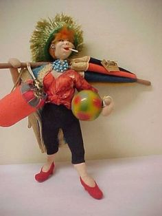 SOLD TACKY BEACH GOER ROLDAN DOLL,  WITH TAG, THIS DOLL IS GREAT