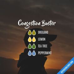 Congestion Buster diffuser blend Nasal polyps can create persistent congestion. These essential oils can aid in soothing irritated nasal passages while opening the air ways.