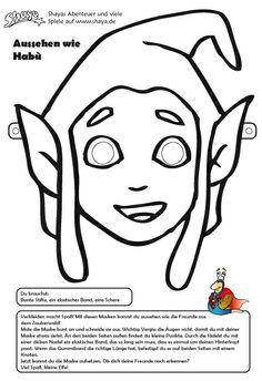 Bastel Deine eigene Habù Maske! #printable #kids #DIY