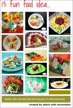 Making food fun for kids - a great collective of ideas