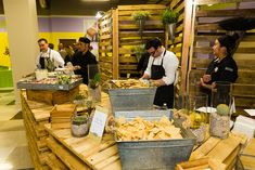 Taco Bar - one of out most popular live action stations…
