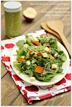 Healthy Girl's Kitchen: Eat to Live Cookbook: Warm Spiced Butternut Squash Salad with Winesap Apples