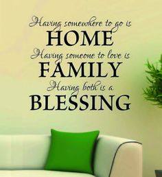 Wall Art Decal Home Family Blessing Vinyl Decals, Wall Decals, Wall Art, Creative Wall Decor, Unique Presents, A Blessing, Wedding Signs, Home And Family, Life Quotes