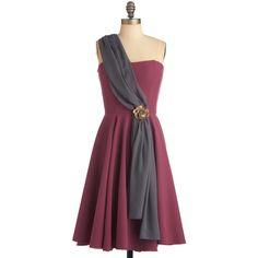 Gilded Garden Party Dress (88 BRL) ❤ liked on Polyvore featuring dresses, modcloth, vestidos, one shoulder, one shoulder cocktail dress, one sleeve cocktail dress, one sleeve dress, stretch dresses and single shoulder dress