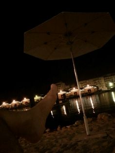 Playa nocturna. Gandía