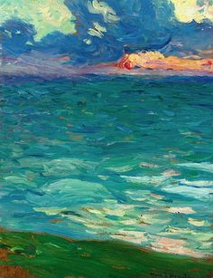Henri Martin 1860 - 1943 Au Bord De La Mer // Because I will one day shine with you, I'll shine on a faithful few.