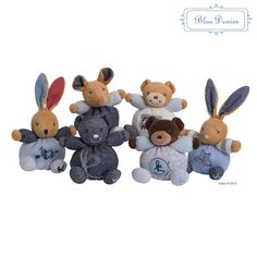 A whole bundle of cuddly companions await your youngster thanks to these cotton-crafted plush toys. Denim Mini, Cotton Crafts, Future Maman, Age, Smurfs, Plush, Teddy Bear, Toys, Animals
