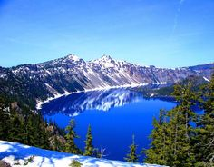 Crater Lake Oregon   I Have been there and it was the best experience ever!!!  Wish I could go there again!! :)
