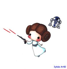 Princess Leia Tribute by SybileArt