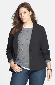 Plus Size Women's Sejour 'New Ela' Suit Jacket