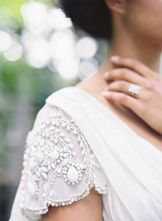 32 Strikingly Beautiful Wedding Dress Details love the cap sleeve detail Bridal Gowns, Wedding Gowns, Modest Wedding, Perfect Wedding, Dream Wedding, Yes To The Dress, Mode Style, Dream Dress, Wedding Bells