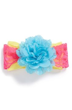 Baby Bling Lace & Chiffon Flower Headband (Baby Girls) | Nordstrom