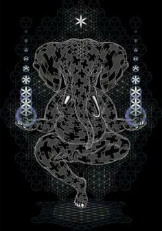 """""""Ganesh""""  Creator made manifest all possibilities of form, shape and desire. It is all Lila, all Play, no matter what our external image or face-facade portrays, we all hold the same Geometry within."""